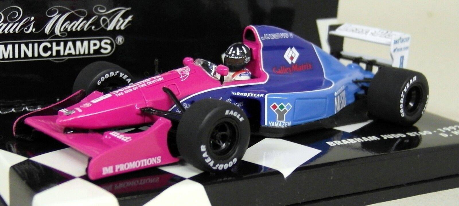 Minichamps 1 43 Scale Scale Scale 430 920007 Brabham Judd BT60 1992 D. Hill Diecast F1 Model b628f2