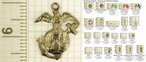 Military & Peacekeeping decorative fobs, various designs & leather strap options