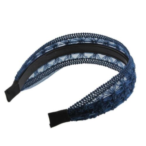 Blau Spitze Elastische Haarband Harreif Kopfband Haarschmuck für Hochzeit