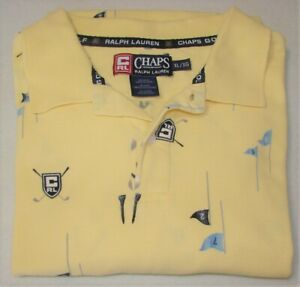 Chaps-Golf-Ralph-Lauren-Yellow-Golfing-Polo-Shirt-Size-XL-Chest-44-48-034