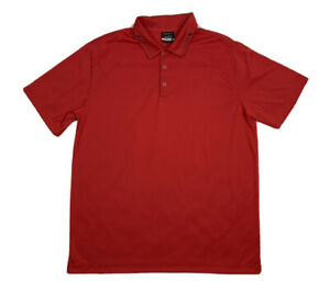 Mens-Nike-Golf-Dri-Fit-Red-Golf-Polo-Shirt-Size-Large-L
