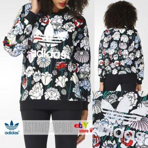 8a901db040e6 Image is loading Adidas-Originals-FLORAL-SWEATSHIRT-HOODIE -B36939-Womens-Rita-