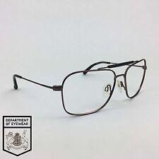 RODENSTOCK eyeglass METAL / BLACK frame OVAL Authentic. MOD:9938