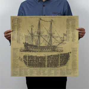 ancient-warship-kraft-paper-poster-history-wall-sticker-painting-antique-decor-P