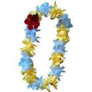 Six hawaiian silk flower lei luau party hula wedding yellow image is loading six hawaiian silk flower lei luau party hula mightylinksfo