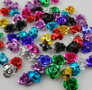 Free-Ship-200pcs-Mixed-Aluminum-Rose-Spacer-Beads-For-Jewelry-Making-Findings