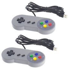 2x Classic USB Controller Gamepad Joypad für PC Mac Notebook Super Nintendo SNES