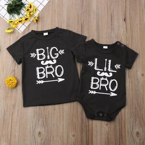 415afb3f38 Newborn Baby Little Brother Boy Romper Big Brother T-shirt Cotton ...