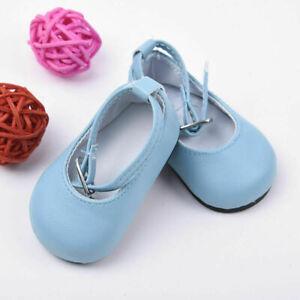 Handmade-Blue-Shoes-For-18-inch-Girl-Doll-Kids-Baby-7-3cm-Gift-Gift-New-P9C-B0K8