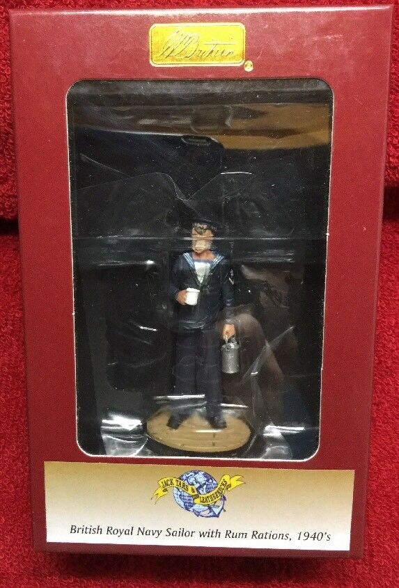 BRITAINS 13005 BRITISH ROYAL NAVY SAILOR WITH RUM RATIONS 1940'S