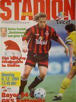 Programm UEFA Cup 1994/95 Bayer Leverkusen - GKS Kattowitz