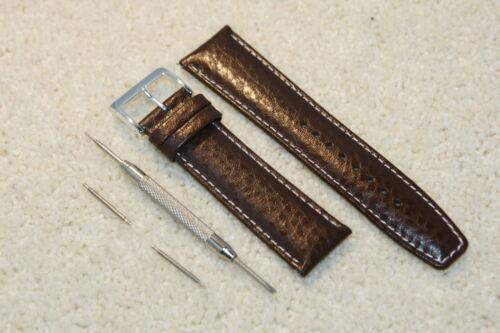 Bufalo,Grana pelle Imbottito Bianco Cucito Cinturino Orologio 18-22mm Attrezzo /&