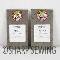20 ORGAN 15X1, HAX1, 130/705H  SIZE#16 HOME SEWING MACHINE NEEDLES