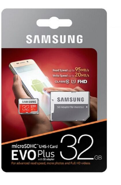 Samsung 32 GB EVO PLUS Micro SD SDHC Uhs-Classe 10 I Scheda Di Memoria-Fino a 90MB/S