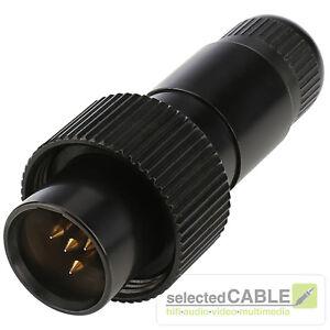 Hicon-Mini-XLR-4-pol-Enchufe-Pro-ip67-acero-Maximo-de-cable-4-9mm