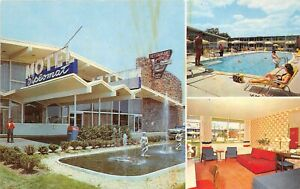 Washington-DC-1960s-Postcard-Diplomat-Motor-Hotel-Motel-Swimming-Pool