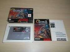 Contra III 3 The Alien Wars Complete SNES Super Nintendo Game Original CIB