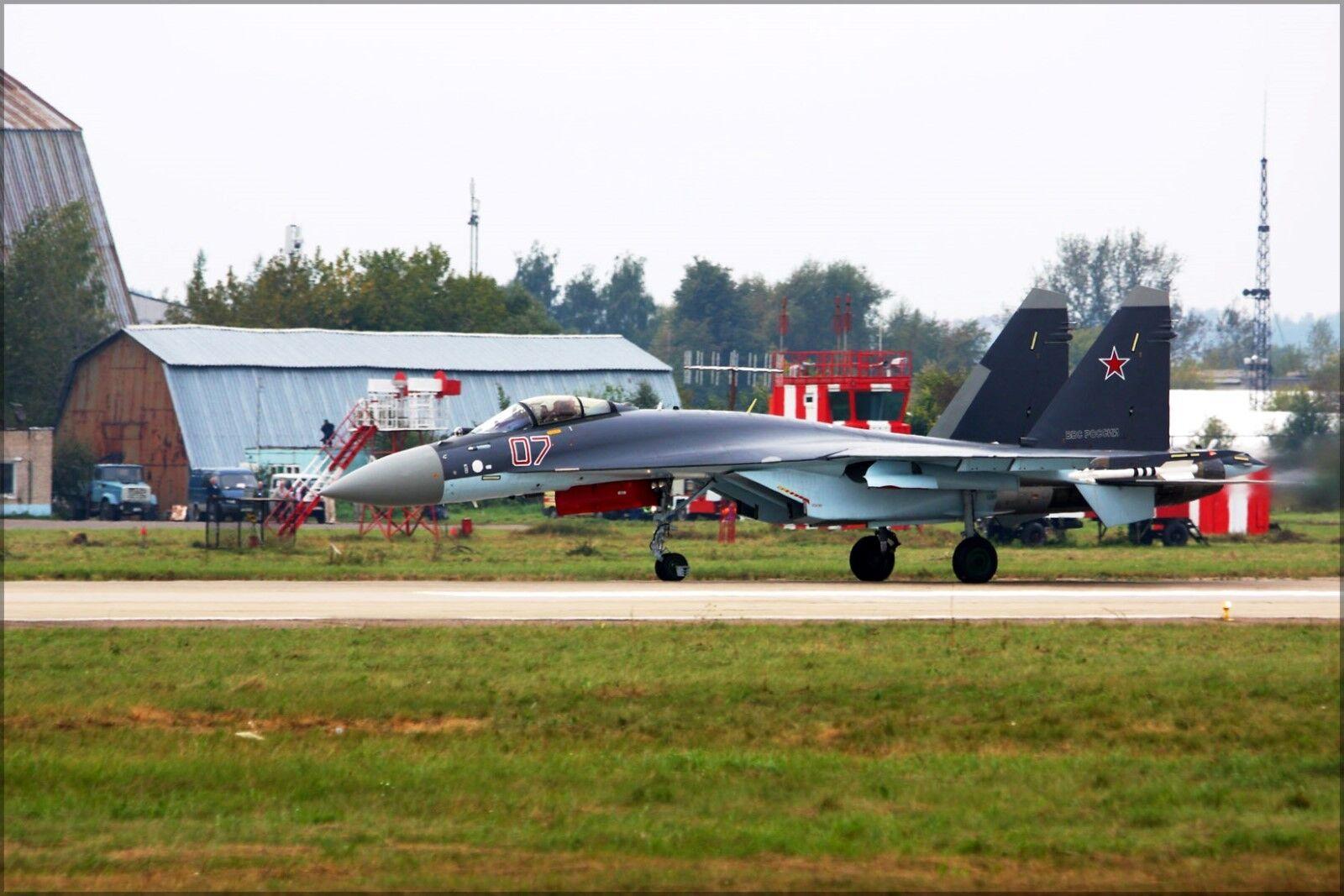 Poster, Many Größes; Fighter Sukhoi Su-35S Flanker-T+ Takeoff
