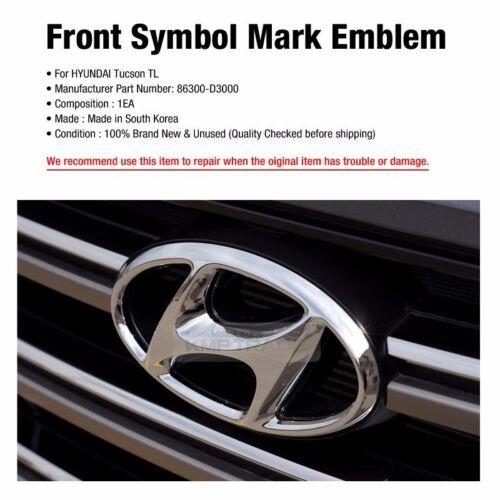 OEM Genuine Parts Front Grill Symbol Mark Emblem For HYUNDAI 2016-2018 Tucson TL