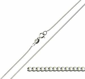 Solid-925-Sterling-Silver-16-18-20-22-24-034-inch-FINE-1mm-Curb-Link-Chain-Necklace
