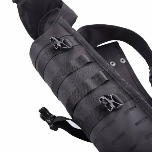 Tactical Arrow Quiver Single Shoulder Bag Hanging Belt Storage Cylinder Pot Belt