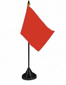 Plain Black Racing Small Table Flag 6x4 Hand Waving New Free Postage