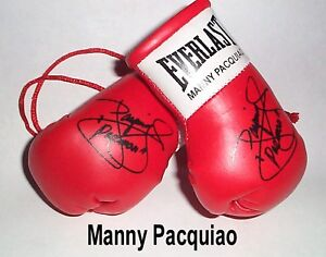 Autographed Mini Boxing Gloves Manny Pacquiao