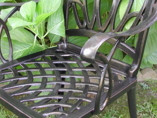 2 Solid Cast Aluminum Outdoor Patio Furniture Arm Chairs Wz 170 Cbm