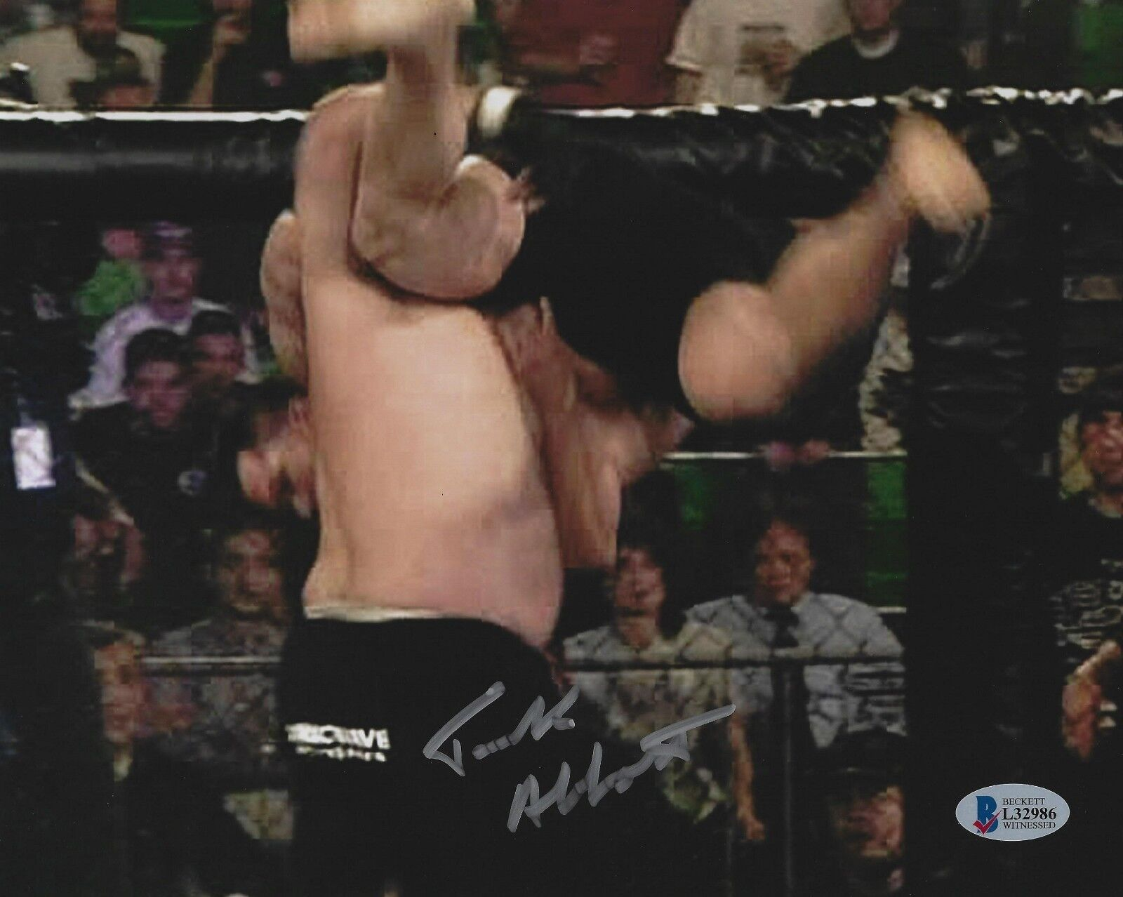 Tanque Abbott Firmado UFC 8x10 Foto Bas Beckett COA Uu96 Worsham Foto Autógrafo