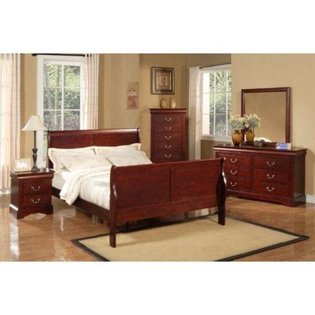 Alpine Furniture Louis Philippe Mirror Cherry 3703 For Sale