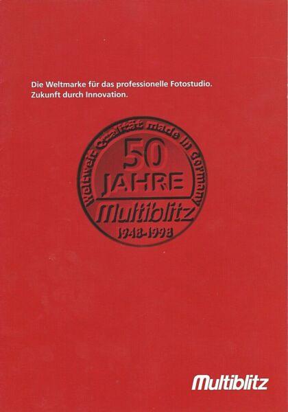 Analytique Multi Flash Image Brochure 1948 - 1998, 50 Ans Multi Blitz-neuve D/gb Un Enrichit Et Nutritif Pour Le Foie Et Les Rein