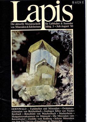 Mineralien Lapis Heft 07//08 Jul 1998 RONNEBURG Culmitzsch URAN Zeolith Eifel