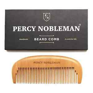 wooden beard comb by percy nobleman ebay. Black Bedroom Furniture Sets. Home Design Ideas