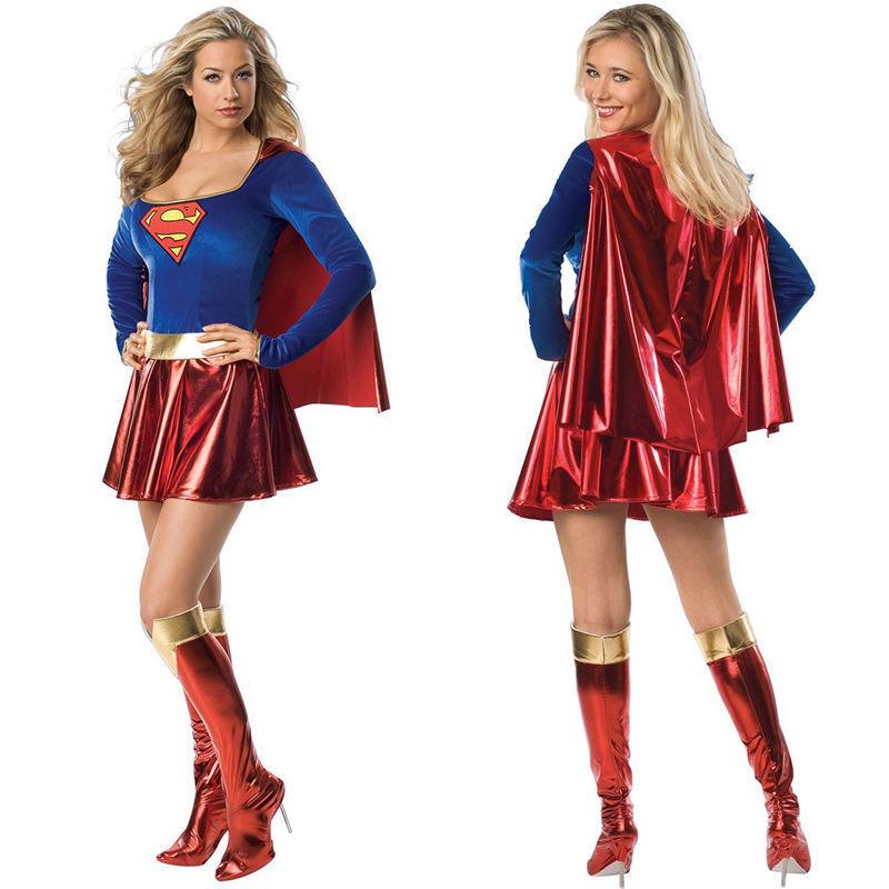Sexy Super Man Wonder Woman Hero Justice League Avenger DC Halloween Costume