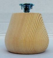 Pack of 4 small Wooden Pine Conical Bun Feet with M8 Bolt 66mm foot