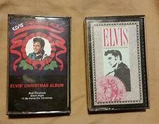 ELVIS PRESLEY CASSETTE TAPES LOT OF 2 CHRISTMAS ALBUM & CHRISTMAS CLASSICS