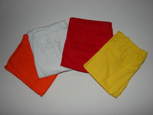 Coole Kinderleggings 3//4 Leggings Capri blickdicht  Gr 116-146  cm Farben NEU