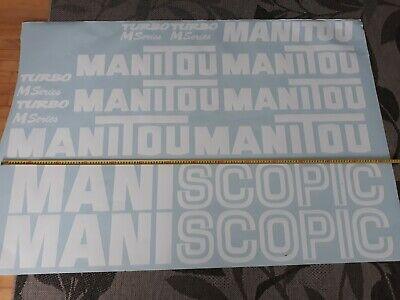 FleißIg Manitou Maniscopic Stickers / Decals Set Aufkleber