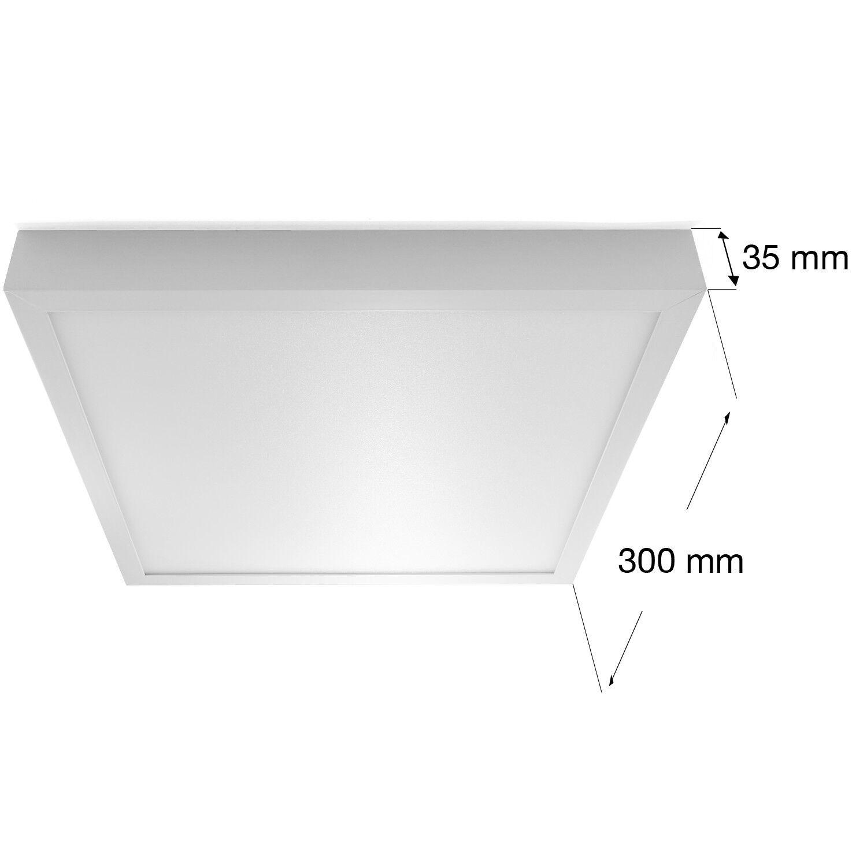 led aufbau deckenleuchte design lampe smd panel 6w 24w eckig flach neu ebay. Black Bedroom Furniture Sets. Home Design Ideas