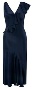 Adara Dress Taille Bnwt Navy Midi 10 Asymmetric Monsoon gwqn8AWPW