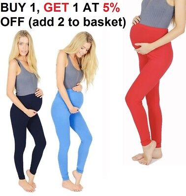Gutherzig Womens Full Length Maternity Cotton Leggings Comfort Warm Pregnancy Wear Matrlg Modischer (In) Stil;