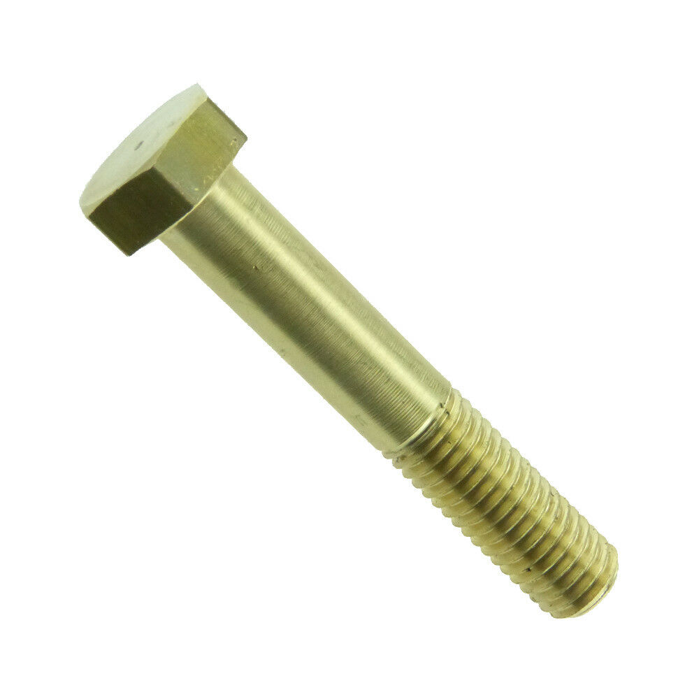 Sechskantschrauben mit Schaft ISO 4014 Messing blank
