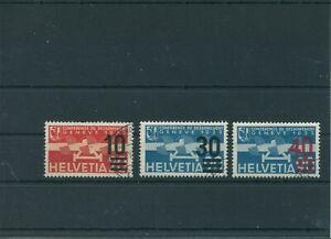 Suisse-Suisse-Vintage-1936-Mi-291-293-Timbres-Used-Poste-Aerienne