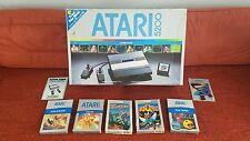 Atari 5200 Original Box,5 Games Extras