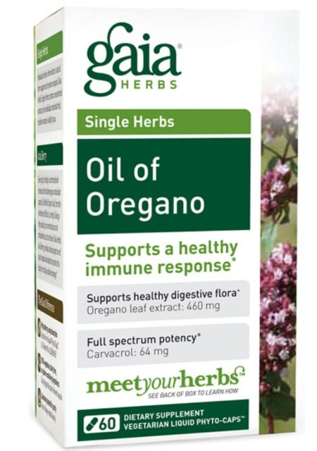 NEW GAIA HERBS OIL OF OREGANO SUPPORTS HEALTHY IMMUNE RESPONSE SUPPLEMENT CAPS
