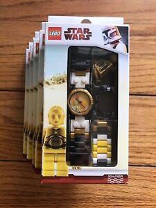 *tout Nouveau* Lego Star Wars C-3po Montre Plus Minifigurine Perle Doré * Jeu De