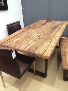 Esstisch-Tisch-Thar-160x90cm-Altholz-Massiv-Industrie-Design-Sit-NEU