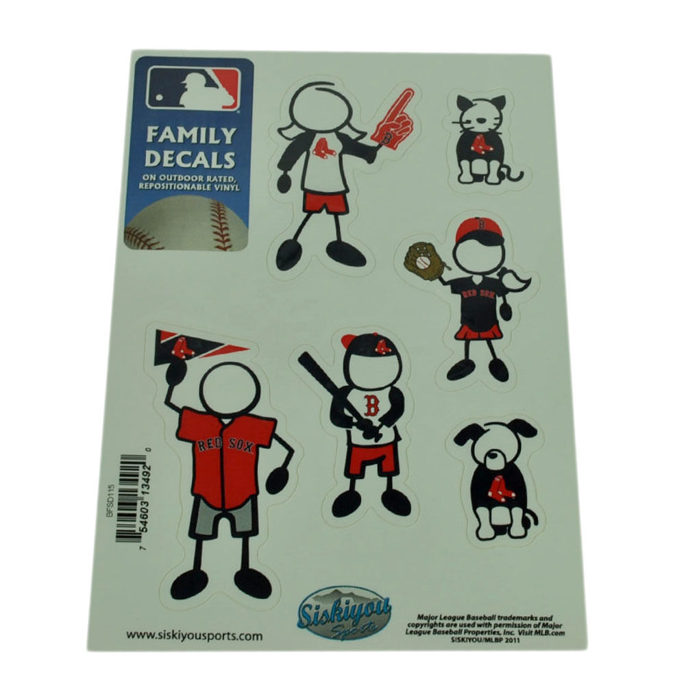 MLB MLB MLB Boston Red Sox Famille Set Autocollants Voiture S Repositionnables Vinyle 6ff834