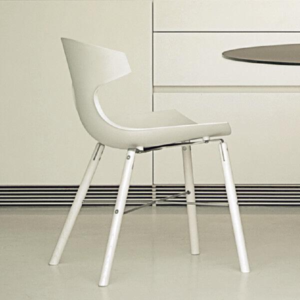 4 Sedie Geko vari colori design nuove plastica cucina soggiorno acciaio