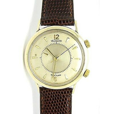 LE-COULTRE 10Carat Filled Gold Memovox Alarm Swiss Made Gent's Watch Used.